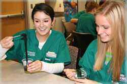 Students in the Health Explore program